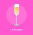 champagne classical luxury alcohol drink glassware vector image vector image