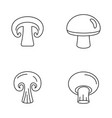 champignon mushroom icons set outline style vector image vector image