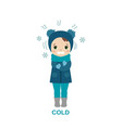 cold weather girl vector image