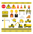 Construction Objects Set vector image