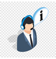 consultant on phone isometric icon vector image vector image