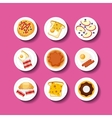 delicious food infographic set icons vector image
