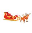 design of santa sleigh with reindeer vector image