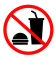 do not eat and drink icon for your web site vector image vector image