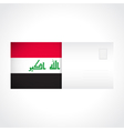 Envelope with Iraqi flag card vector image vector image
