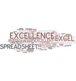 Excellence word cloud concept