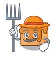 farmer caramel candies character cartoon vector image vector image