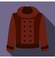 Female jacket icon flat style vector image