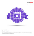 film strip icon - purple ribbon banner vector image vector image