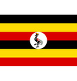 Flag of Uganda vector image vector image