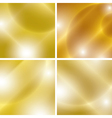 golden backgrounds with light abstractions - set vector image vector image