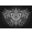Graphic mehndi heart vector image