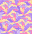 hand drawn seamless pattern with coloured feathers vector image