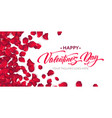happy valentine day calligraphy lettering on a vector image vector image