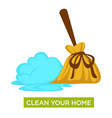 home cleaning sweeping floor healthcare and vector image vector image