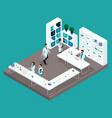 isometric medical room laboratory vector image