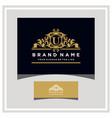 letter u logo design concept royal luxury gold vector image vector image
