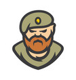 maroon military army special forces sign vector image vector image