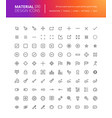material design icons set vector image vector image