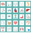 Medical and healthcare icon set vector image vector image