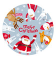 merry christmas plate vector image vector image