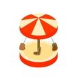 Merry-go-round isometric 3d icon vector image vector image