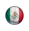 mexican flag football - soccer ball vector image vector image