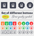 mobile phone icon sign Big set of colorful diverse vector image vector image