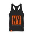 New York shirt emblem mock-up vector image vector image