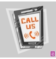 Phone Call us vector image vector image