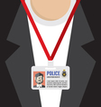 Police Id Card vector image vector image