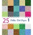polka dot paper set 25 seamless patterns vector image vector image