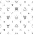 recycle icons pattern seamless white background vector image vector image