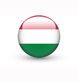 Round icon with national flag of Hungary vector image vector image