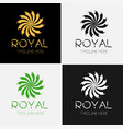 Royal flower logo template set vector image