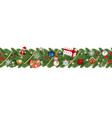 seamless christmas banner vector image vector image