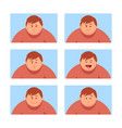 set a man with a variety of emotions vector image vector image