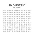 Set line icons industry