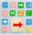 set of arrows on icons vector image