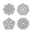 set of circular patterns vector image vector image