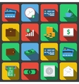 Set of icons in a flat style vector image vector image