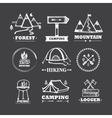 Set of logos camping vector image