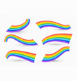 set wavy rainbow design vector image