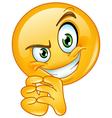 sneaky emoticon vector image