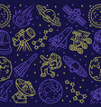 space seamless pattern cosmos exploration vector image