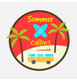 summer calling vector image vector image