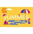 summer time seasonal vacation at beach vector image vector image