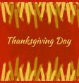 thanksgiving day in canada wheat sheaves name of vector image