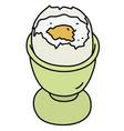 the soft boiled egg vector image