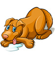 Tired dog vector image